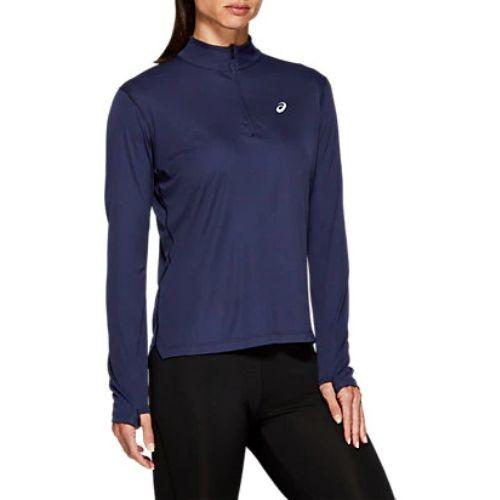 Asics Silver Long Sleeve 1/2 Zip Top Ladies