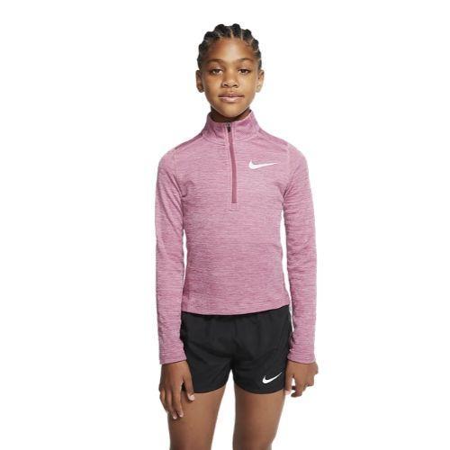 Nike Kids Girls Long Sleeve 1/2-Zip Top - Pink