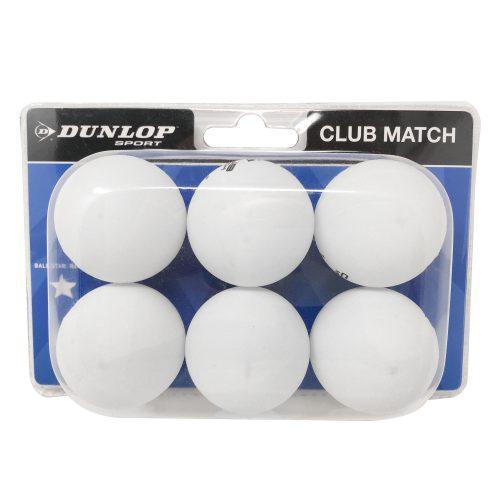 Dunlop 6 Pack Table Tennis Balls